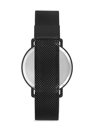 Madamra Hasır Kordon Dijital Kol Saati Siyah